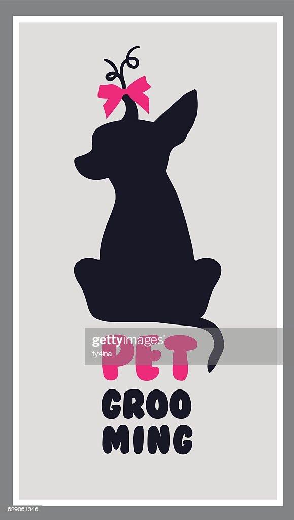 Logo for dog hair salon