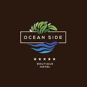 Logo for hotel, ocean side resort, logotype design