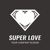 Logo. Icon. Heart. Super love.