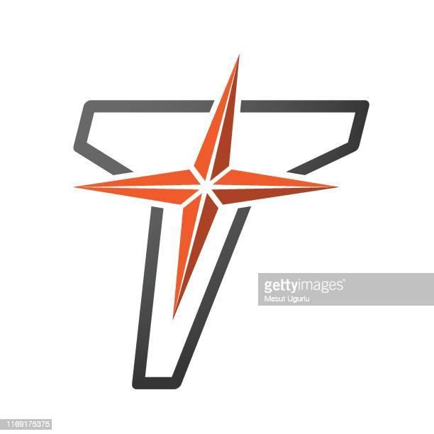 ilustrações de stock, clip art, desenhos animados e ícones de t logo icon - letra t