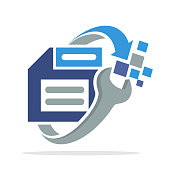 logo icon with the concept of data recovery