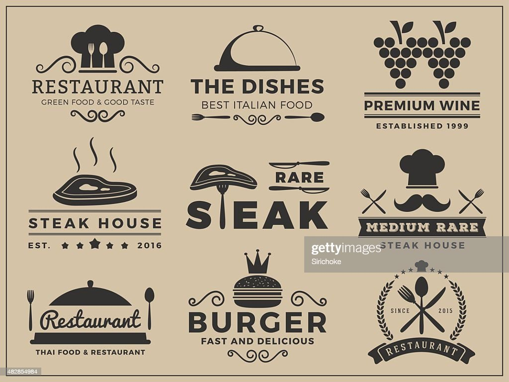 Logo insignia design for Restaurant, Steak house