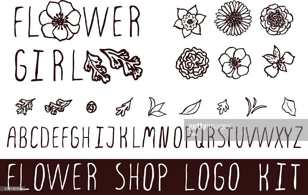 Logo kit for flower shops