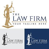 Logo law firm lady justice
