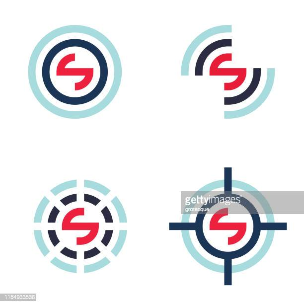 logo letter s - spinning stock illustrations