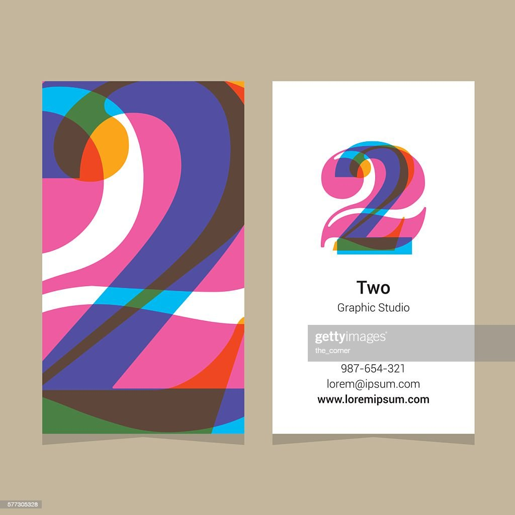Logo number '2', with business card template.