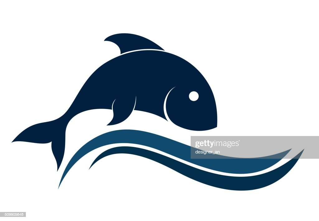 Logo of fish with a wave.