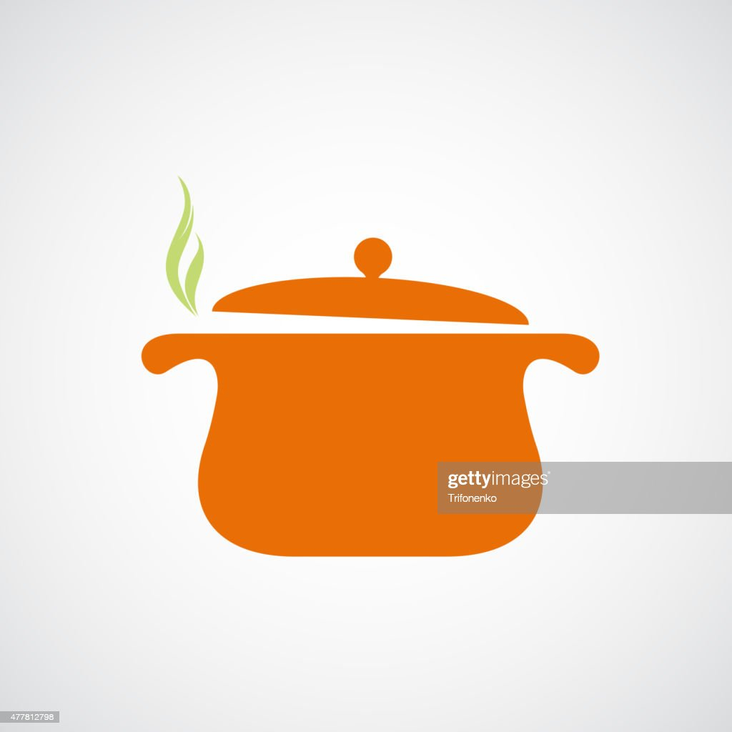 Logo of the pan with steam.