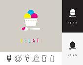 Logo pour glacier, identité graphique, nom, marque, restaurant, foodtruck