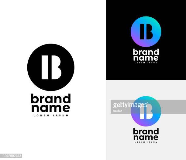 illustrazioni stock, clip art, cartoni animati e icone di tendenza di set di logo b - lettera b