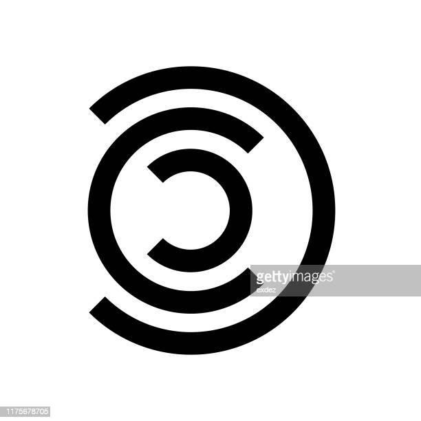 logo shape c - letter c stock illustrations, clip art, cartoons, & icons