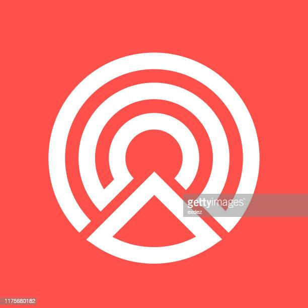 logo shape c - logo stock illustrations