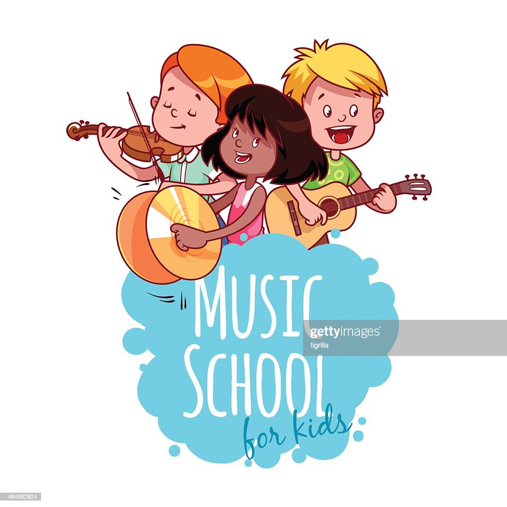 Logo template for music school.