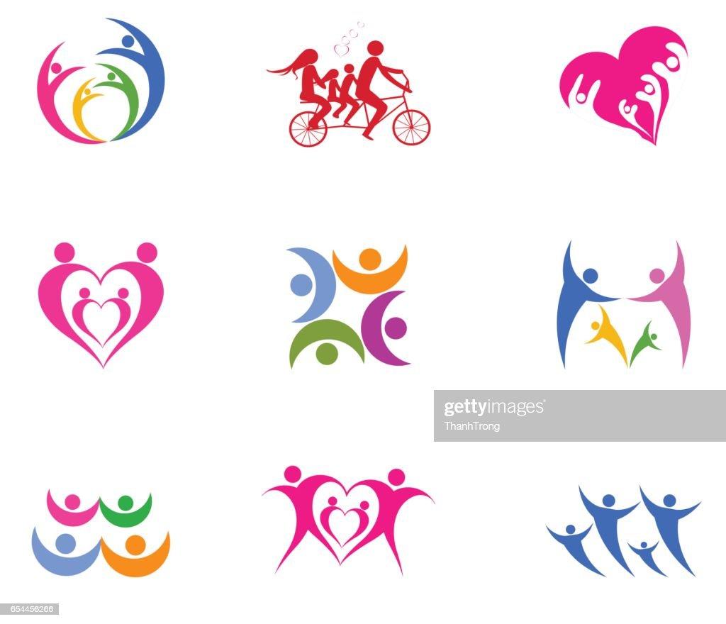 logo vector  happy family day.