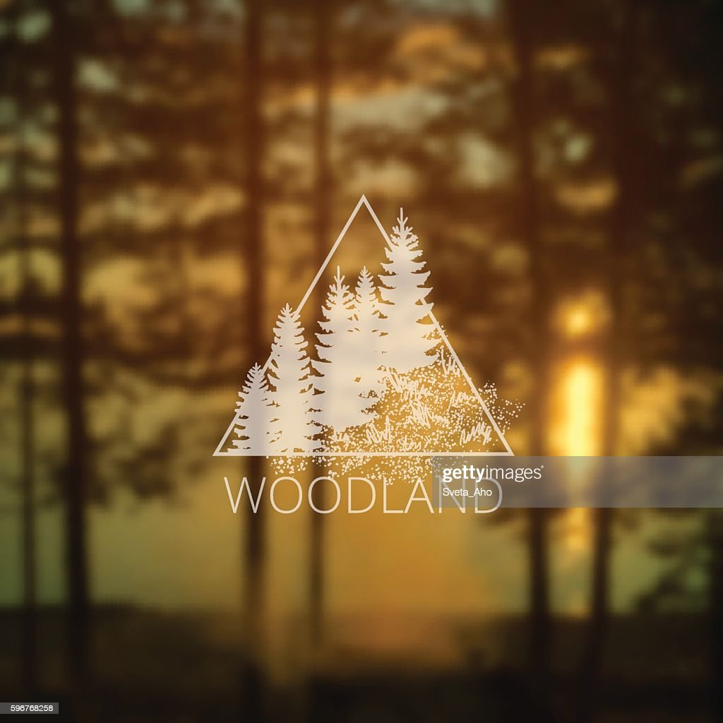 logo with forest trees