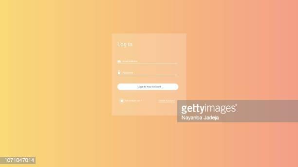 ilustrações, clipart, desenhos animados e ícones de formulário de logout de logon/login para vetor de site - registro livro