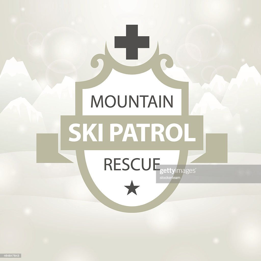 logotype mountain ski patrol rescue