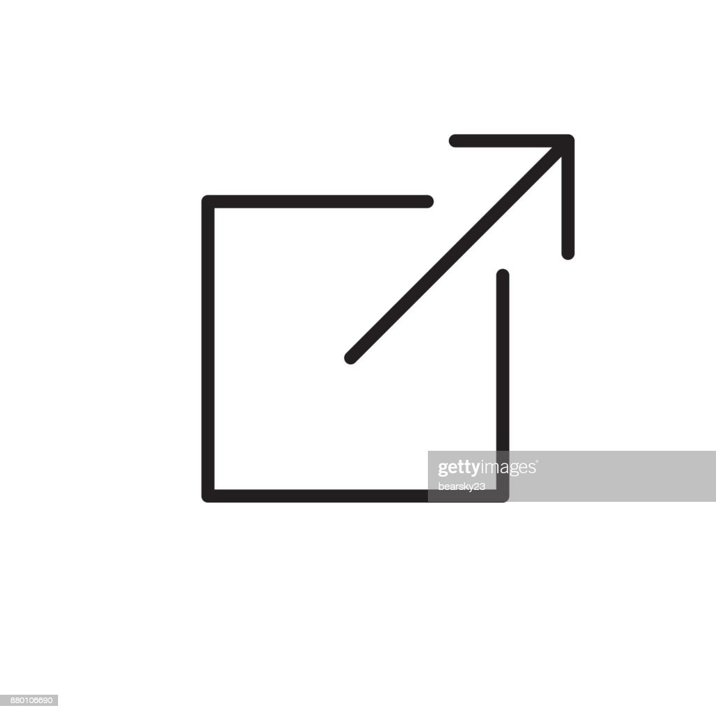 Logout Icon with Arrow pointing to another website - location