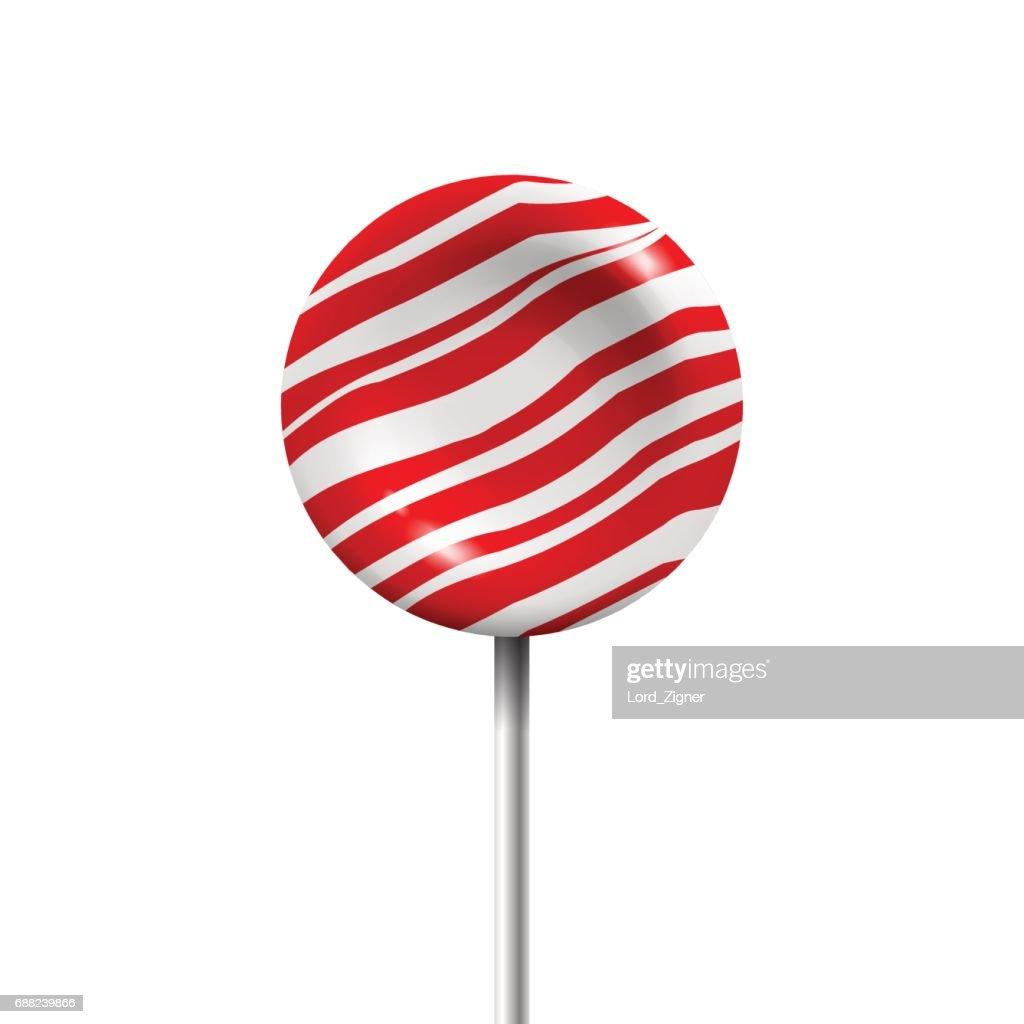 Lollipop isolated on white background. Vector Illustration