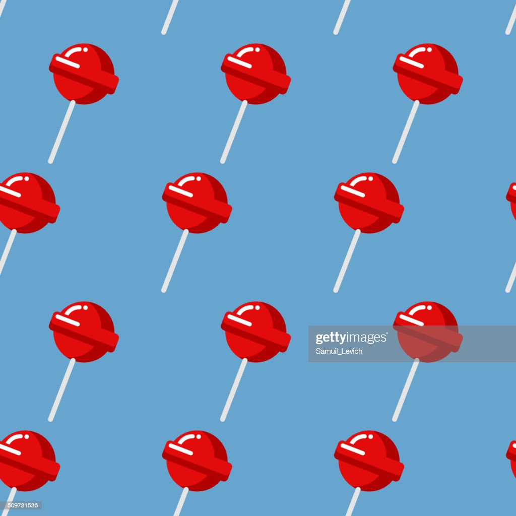 Lollipop seamless pattern. Red sweet candy texture. Strawberry s