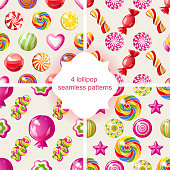lollipop seamless patterns