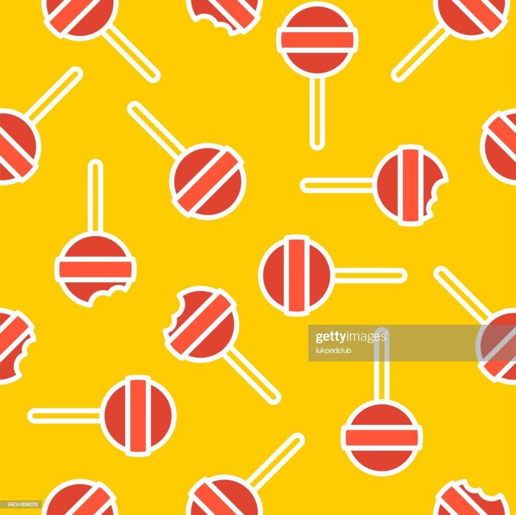 Lollipop Sweets seamless pattern for use as wrapping paper gift or background