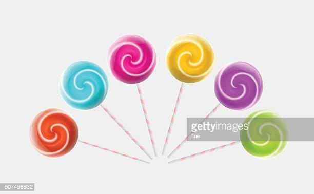 lollipops - stick plant part stock illustrations