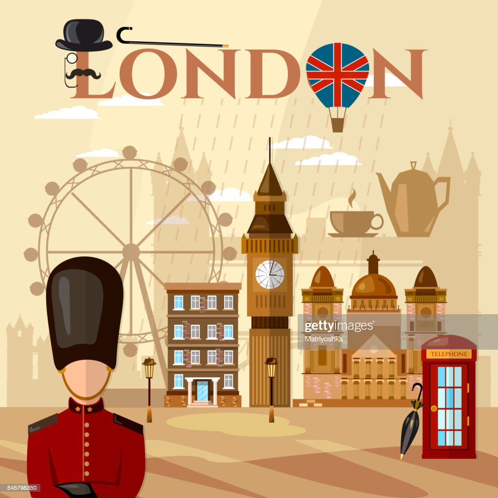 London and United Kingdom attractions symbols landmarks England