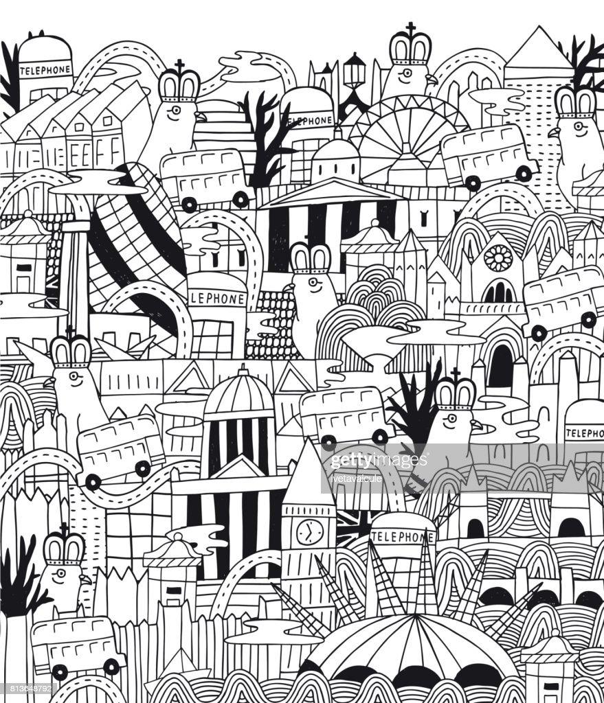London architecture background pattern
