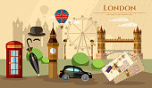 London banner capital of Great Britain atraction