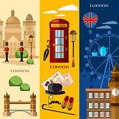 London banner United Kingdom attraction