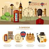 London banner United Kingdom concept