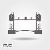 London Bridge Logo. Attraction of the capital of England