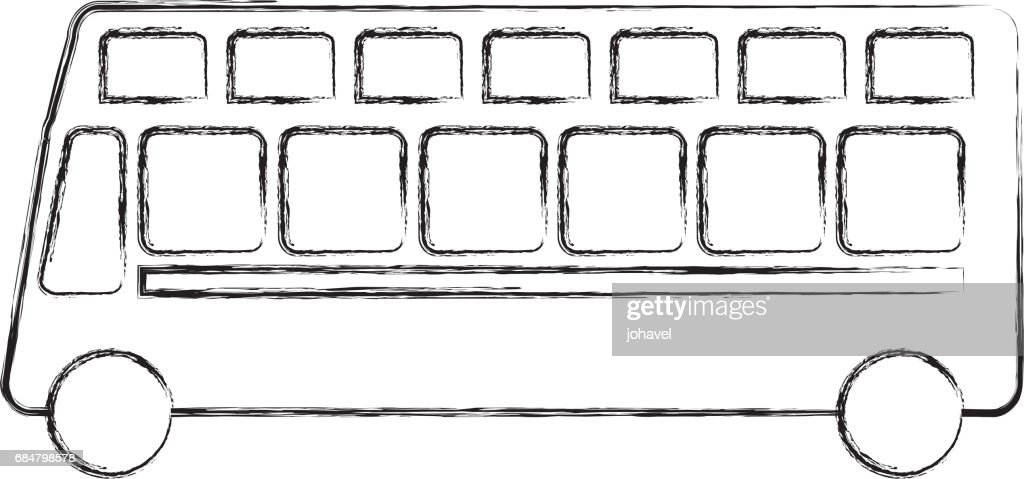 London Bus Transport Vehicle Icon Stock Illustration - Getty