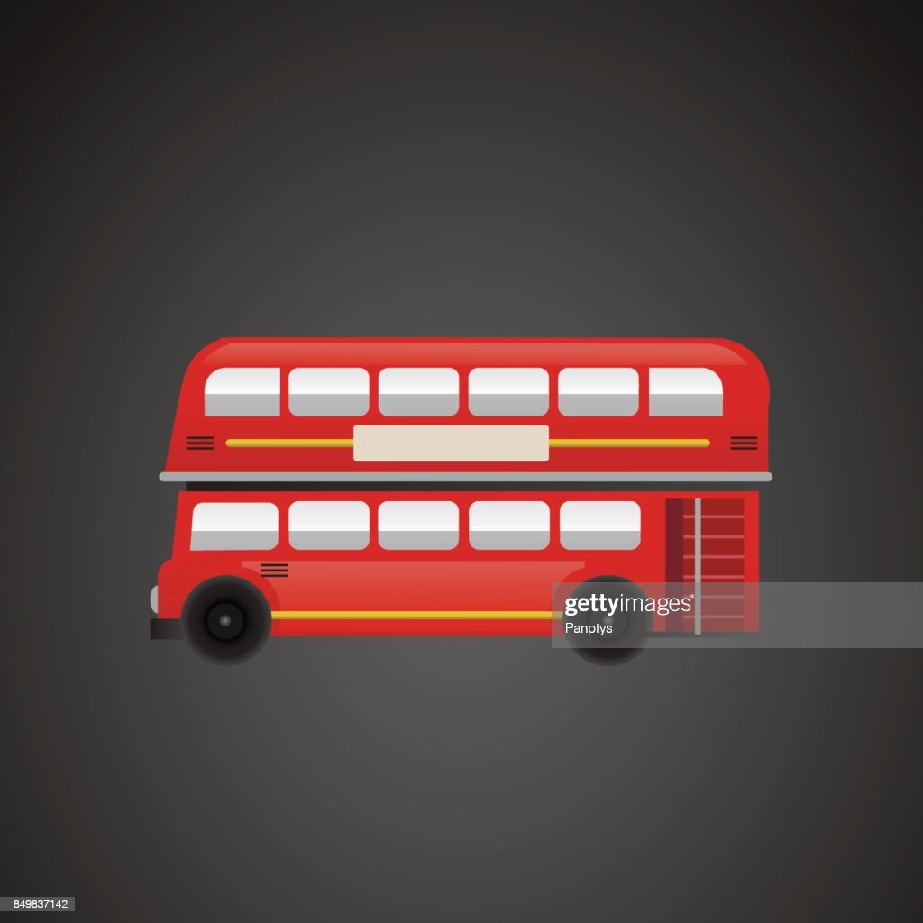 London bus vector illustration.