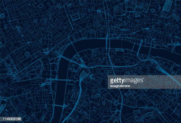 london city map - composite image stock illustrations