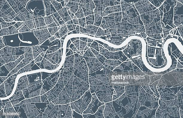 london city map - england stock illustrations