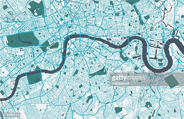 london city map - london england stock illustrations