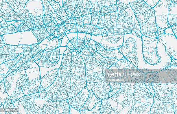 london city map - cartography stock illustrations