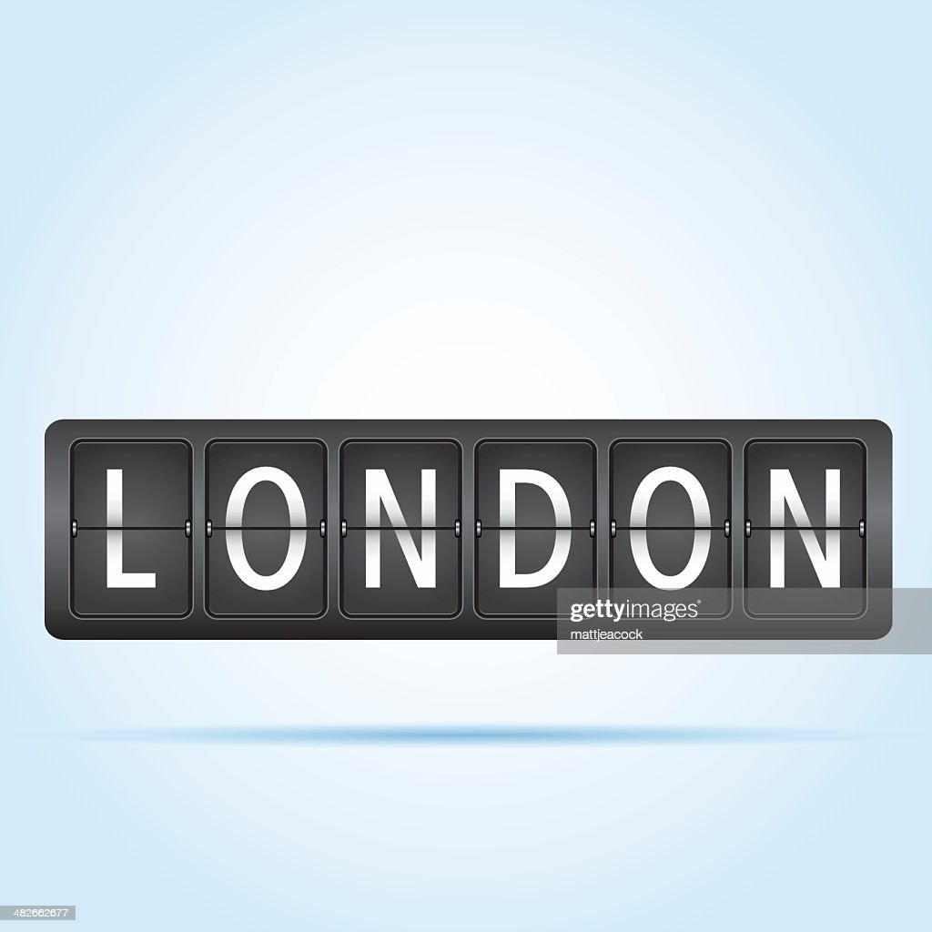 London departure board