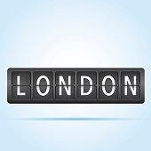 London departure board