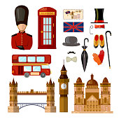 London England travel collection. Welcome to the UK United Kingdom elements. Travel to London set