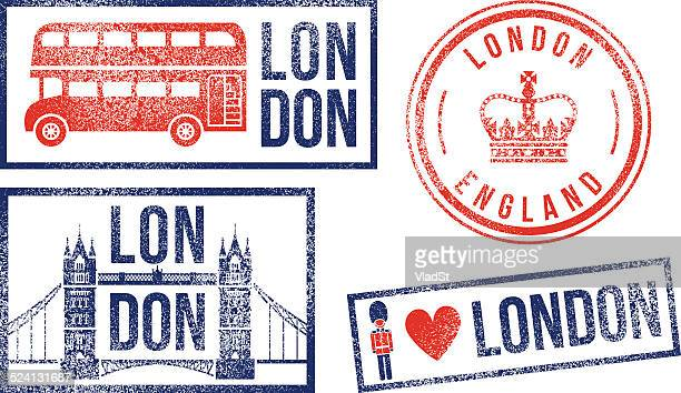 London England travel rubber stamps