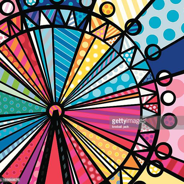 london eye - ferris wheel stock illustrations, clip art, cartoons, & icons