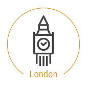 London, Great Britain Vector Line Icon