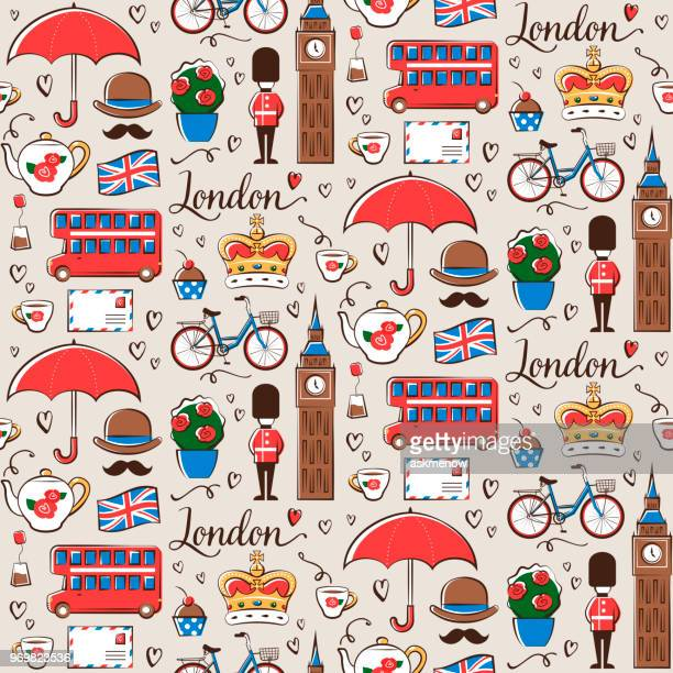 london pattern - england stock illustrations