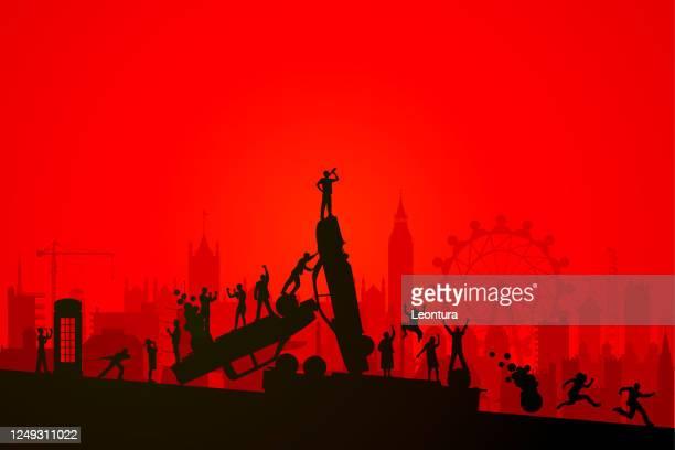 ロンドン暴動 - セントラル・ロンドン点のイラスト素材/クリップアート素材/マンガ素材/アイコン素材