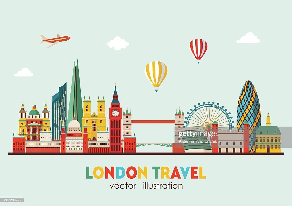 London Skyline abstract. Vector illustration