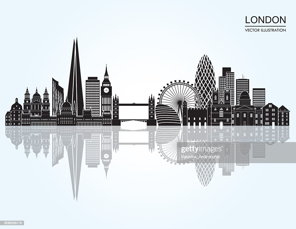 London Skyline abstract. Vector illustration