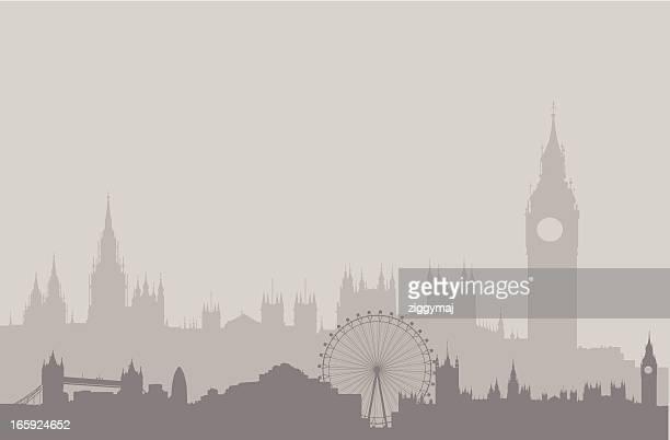 London Skyline in Gray